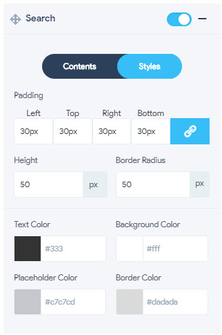 Container Search - Styles